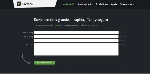 Filemail.com   Envíe archivos grandes   rápido  fácil y seguro(FM)